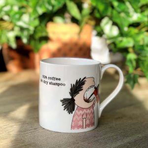 Rosie Made A Thing 92% Coffee 8% Dry Shampoo Mug
