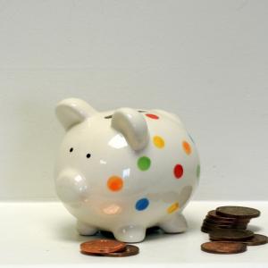 MulicolouredSpotty Piggy Bank