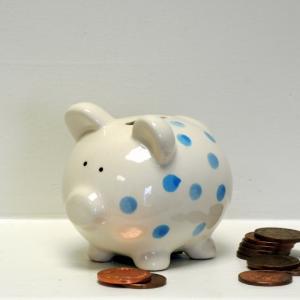 BlueSpotty Piggy Bank