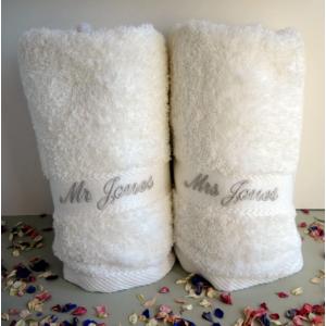 Wedding Bath Towels