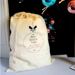 Personalised Giant Bauble Christmas Sack