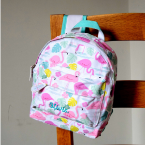 Personalised Children's Tropical Flamingo Backpack