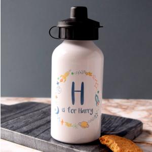 Personalised Rocket Wreath Water Bottle