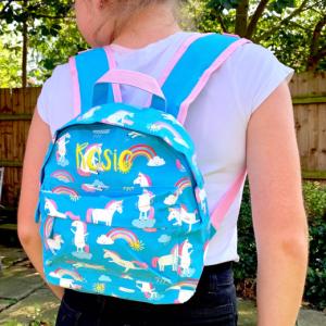 Personalised Children's Unicorn Backpack