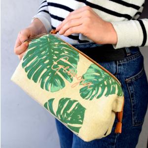 Tropical Palm Print Wash Bag