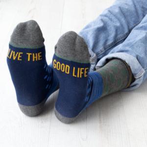 Men's Good Life Slogan Socks