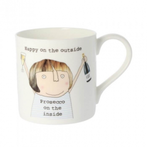 Rosie Made A Thing Prosecco On The Inside Mug
