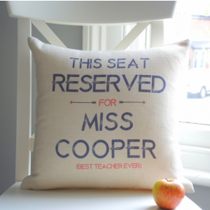 Personalised Reserved Cushion - Cream