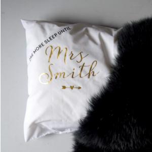 Personalised One More Sleep Wedding Day Pillowcase