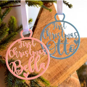 Baby's First Christmas Tree Decoration