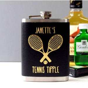 Personalised Tennis Tipple Hip Flask
