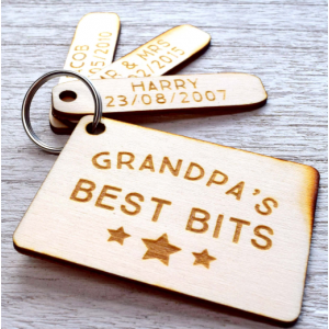 Personalised Daddy's Best Bits Keyring