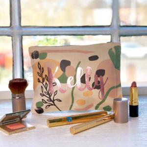 Personalised Blob Print Make Up Bag