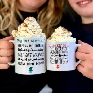 Parent & Child Christmas List Mug Set