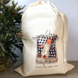 Personalised First Christmas Santa Sack with Photo