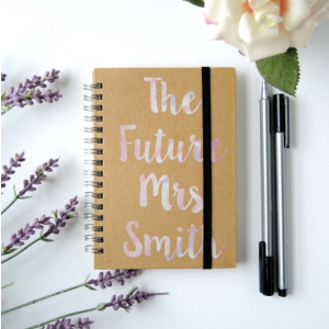 Personalised A6 Wedding Notebooks - The Future Mrs