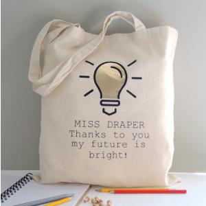 Light Bulb Teacher Tote Bag