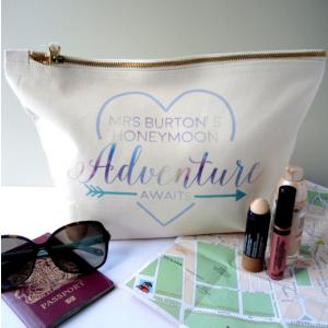 Personalised Bride Honeymoon Toiletry Bag