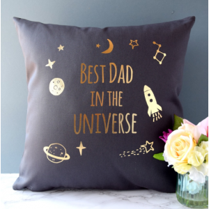 Personalised Best Dad in the Universe Cushion