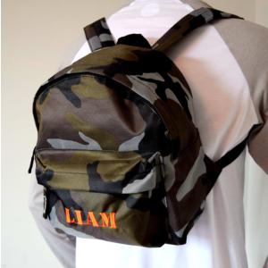 Personalised Army Print Kids Backpack
