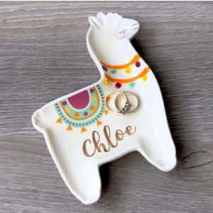 Personalised Llama Shaped Trinket Dish