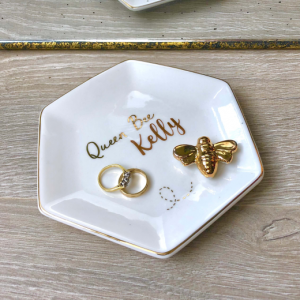 Personalised Queen Bee Trinket Dish