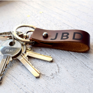Personalised Real Leather Keyring