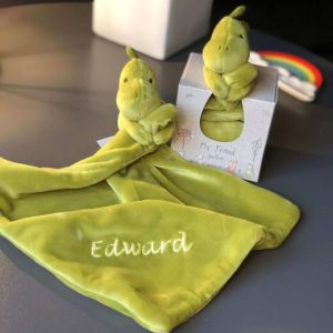 Personalised Jellycat Dinosaur Soother Comforter Blanket