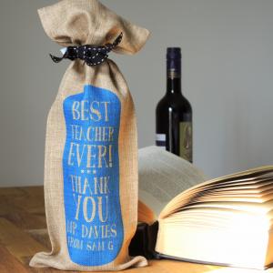 Personalised-OatmealBlue-Best-Teacher-Ever-Wine-Bottle-Bag