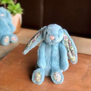 Jellycat Aqua Bashful Blossom Bunny: Small